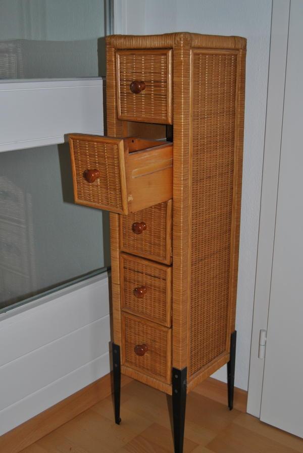 schr nkchen schmal mit schubladen in starnberg bad. Black Bedroom Furniture Sets. Home Design Ideas