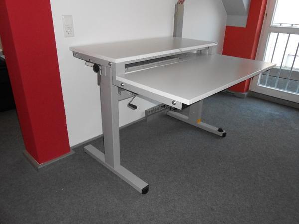 Büro Schreibtisch Höhenverstellbar ~ Schreibtisch  Büro und Zeichenschreibtisch  höhenverstellbar in