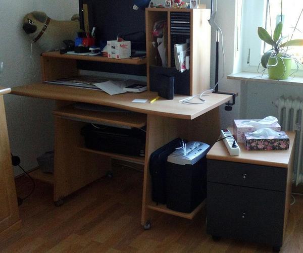 schreibtisch mit aufsatz kaufen gebraucht und g nstig. Black Bedroom Furniture Sets. Home Design Ideas