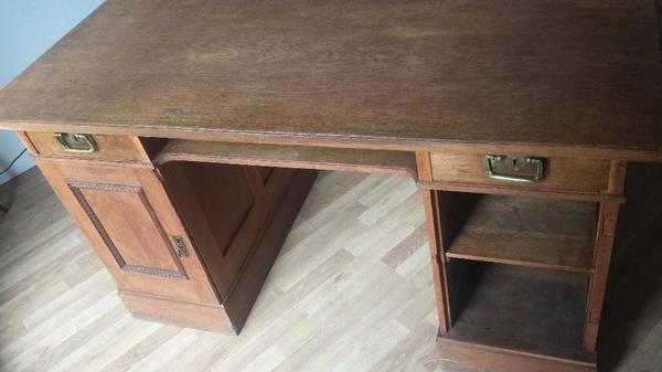 Möbel möbel braun schreibtisch : Schreibtisch Tisch Gründerzeit Antik Holz Braun in Berlin ...