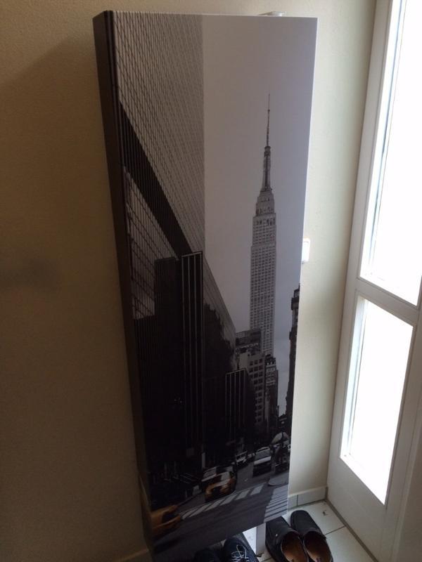 Schuhschrank klappbar mit new york motiv in roth for Garderobe new york