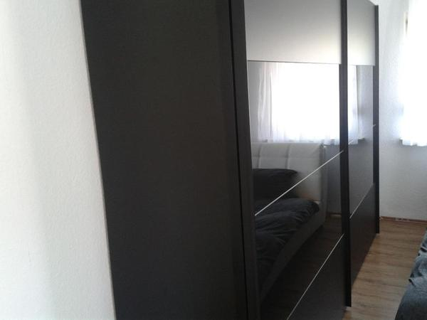 schwebet renschrank 300cm breit schwarz in offenbach schr nke sonstige schlafzimmerm bel. Black Bedroom Furniture Sets. Home Design Ideas