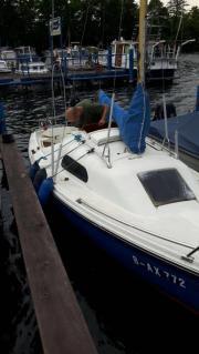 Segelboot am Tegler