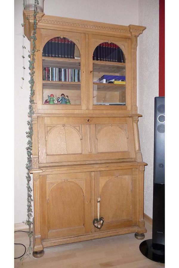 sekret r massiv eiche natur von 1860 in immerath schr nke antiquarisch kaufen und verkaufen. Black Bedroom Furniture Sets. Home Design Ideas