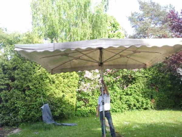 Luxus Gartenmobel Rattan : Sonnenschirm 4x4m in Karlsruhe  Gartenmöbel kaufen und verkaufen