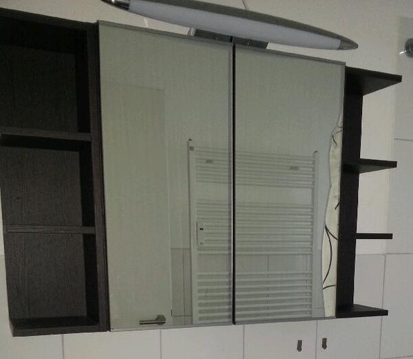 spiegelschrank lillangen ikea inkl sideboards schwarz braun in heidelberg bad einrichtung. Black Bedroom Furniture Sets. Home Design Ideas