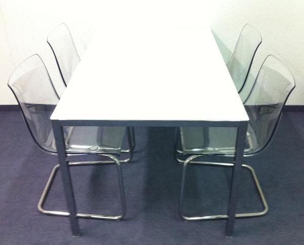 Stuhl Freischwinger IKEA Tobias 4 Stück Plus Tisch Torsby
