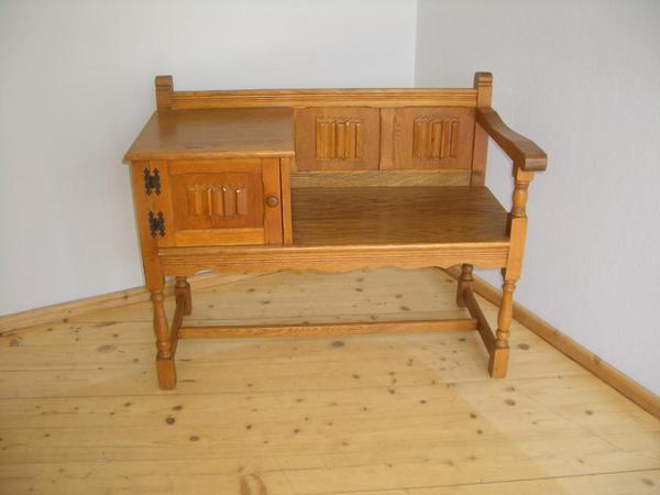 telefon schuh sitzbank bank telefontisch tisch. Black Bedroom Furniture Sets. Home Design Ideas