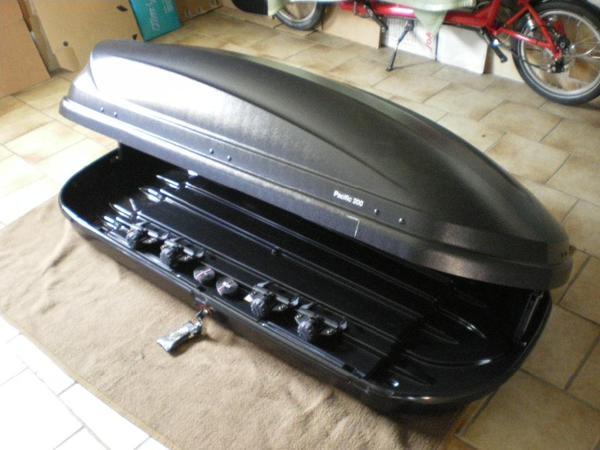 thule dachbox pacific 200 in sensbachtal fahrrad. Black Bedroom Furniture Sets. Home Design Ideas