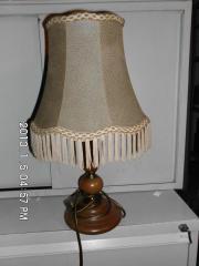 Tischlampe Tierhaut