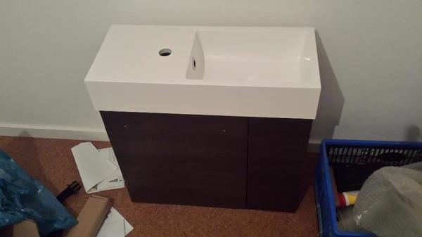 badezimmer unterschrank kaufen gebraucht und g nstig. Black Bedroom Furniture Sets. Home Design Ideas