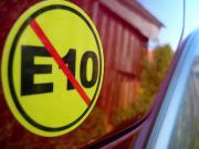 Warnung E10, Autoaufkleber ,