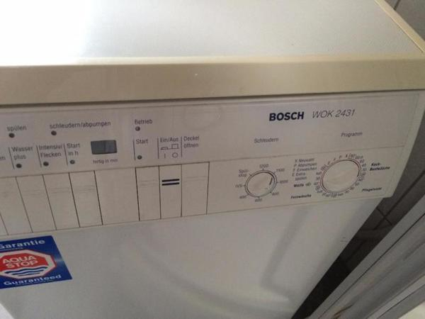 waschmaschine bosch wok 2431 vollautomatische. Black Bedroom Furniture Sets. Home Design Ideas