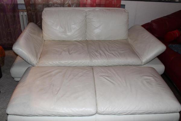 wei es ledersofa incl fu teil in heidelberg kaufen und. Black Bedroom Furniture Sets. Home Design Ideas