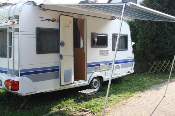 wohnwagen hobby 450 uf excellent easy in hamburg kaufen. Black Bedroom Furniture Sets. Home Design Ideas
