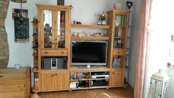 wohnwand kiefer massiv gelaugt ge lt in bolanden wohnzimmerschr nke anbauw nde kaufen und. Black Bedroom Furniture Sets. Home Design Ideas