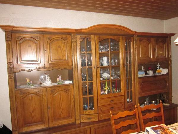 Wohnzimmerschrank eiche teil massiv in r merberg - Wohnzimmerschrank eiche massiv ...