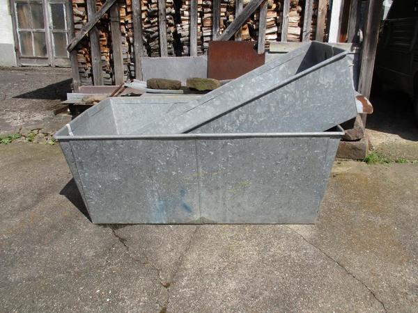 zinkblechwanne 184 x 85 x 42 cm in karlsbad sonstiges f r den garten balkon terrasse kaufen. Black Bedroom Furniture Sets. Home Design Ideas