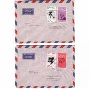2 Luftpostbriefe Bund von 1972