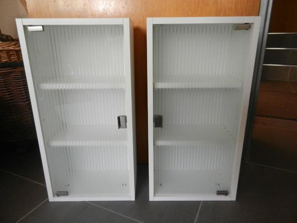 2 x badh ngeschrank badschrank mit glast ren badm bel in ludwigshafen bad einrichtung und. Black Bedroom Furniture Sets. Home Design Ideas