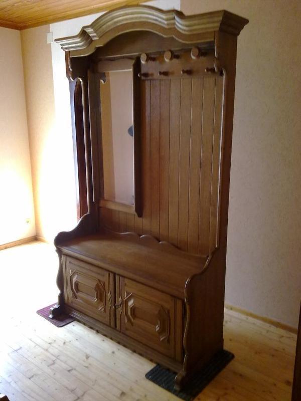 3 teile garderobe schuhschrank zeitungsst nder aus holz eiche rustikal in bad bergzabern. Black Bedroom Furniture Sets. Home Design Ideas
