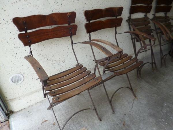 antike metall klappstühle | Möbelideen
