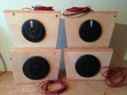 4 Lautsprecherboxen