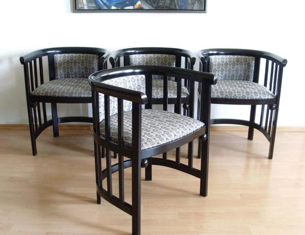 4 st hle chair im fledermaus art deco j hoffmann thonet bauhaus stil in dortmund. Black Bedroom Furniture Sets. Home Design Ideas