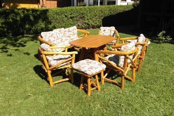 Garten Und Terrassenmöbel 8 tlg garten und terrassen möbel set aus knüppelholz in schorndorf
