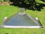 Abzugshaube für Gartengrill -