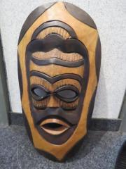 afrikanische Maske - Holz,