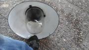 Alte Emaillierte Lampe