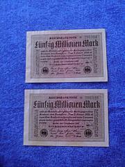 Alte Geldscheine und