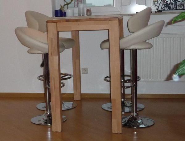 bartisch hochtisch mit barhockern hochst hlen in bonn speisezimmer essecken kaufen und. Black Bedroom Furniture Sets. Home Design Ideas