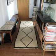 beni ourain teppich l ufer schwarz wei marokko berber midcentury in heilbronn teppiche kaufen. Black Bedroom Furniture Sets. Home Design Ideas
