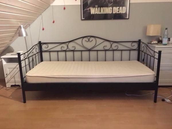 bett metall schwarz betten kaufen bett cerete metall schwarz. Black Bedroom Furniture Sets. Home Design Ideas