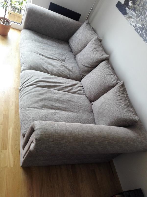 Big Sofa XXL Megasofa Kuschelsofa Sofalandschaft Couch + Hocker in ...