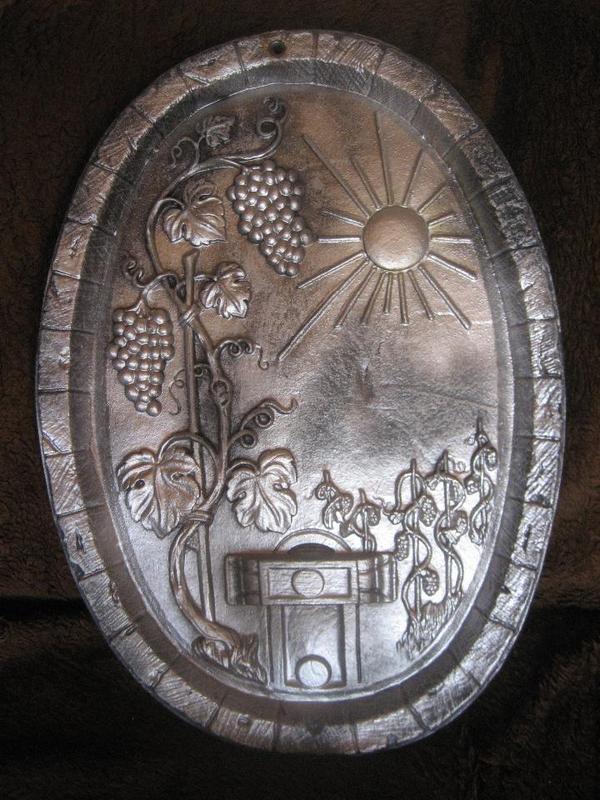 Bild als Fassdaube aus Metall