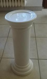 Blumensäule Keramik weiß