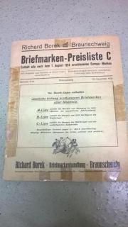 Briefmarken Preisliste von