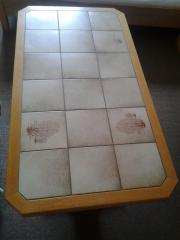 Holz Tisch Fliesen