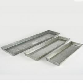 Deko tablett l nglich rechteckige untersetzer aus metall - Deko tablett metall ...