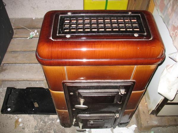 dieto dauerbrandofen f r holz kohle brikett emailiert von 1950 gepflegt sauber sammlerst ck. Black Bedroom Furniture Sets. Home Design Ideas