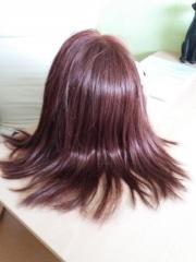 Echthaar-Perücke rot