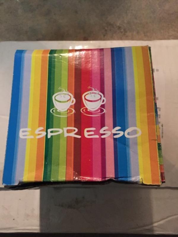 Espresso Service schwarz mit Tassen Untertellern Kanne , Zuckerdose etc. - Starnberg - Espresso Service schwarz mit Tassen Untertellern Kanne , Zuckerdose etc. und bunt gestreift , 2 Tassen mit Untertellern, Porto EUR 7 - Starnberg