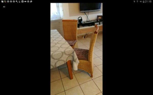 Esszimmerstuhle rattan gebraucht kaufen nur 4 st bis 70 - Esszimmerstuhle ebay ...