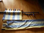 Gardinenstange mit Vorhang 2 Stück