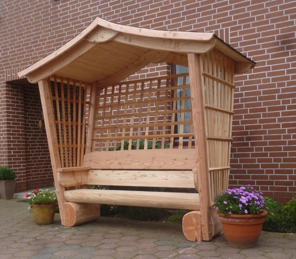 gartenlaube holzrosenbank holzbank gartenm bel holzm bel. Black Bedroom Furniture Sets. Home Design Ideas