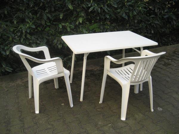 gartenmöbel: tisch fa. sieger, praktische größe + 2 sessel +, Gartenmöbel