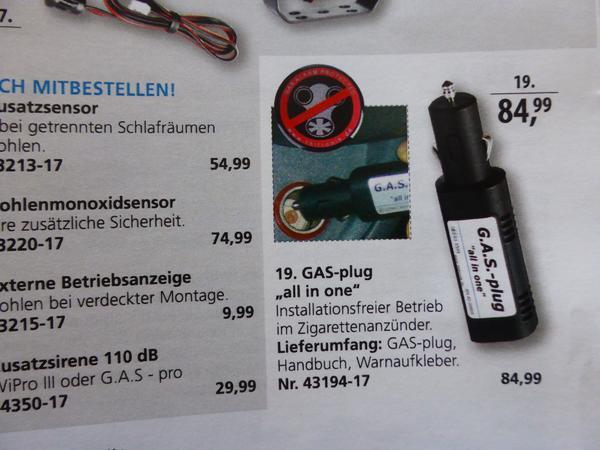 Gasprüfgerät Gas-plug-in